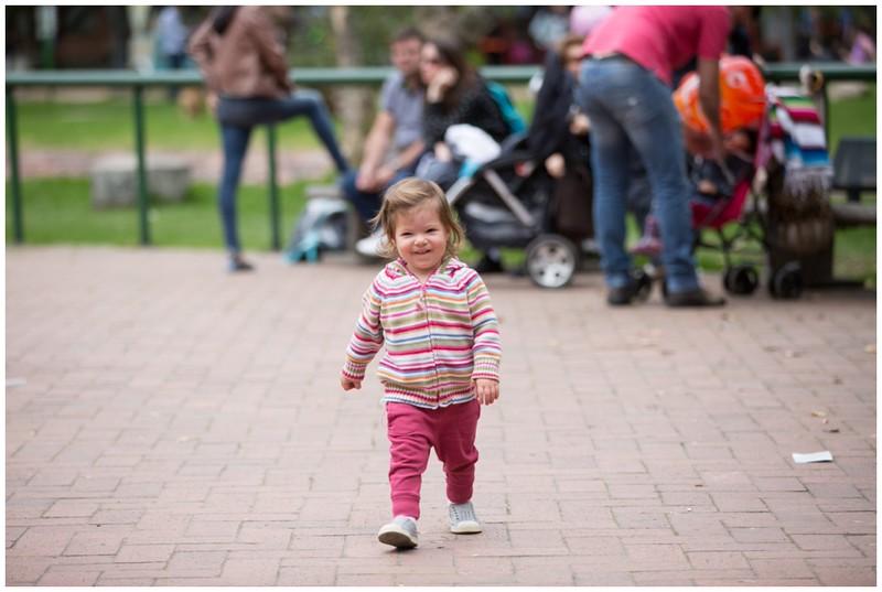 Annika enjoying the many parks here in Bogota